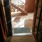 The puddle in front of our door