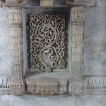Detailed carving on one of the walls