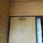 Front door to the 'rustic' hut