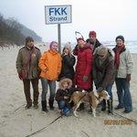 Im Winter am FKK-Strand