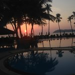 Sunset from the pool at Frangipani