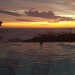 Sunset viewing from the infinity pool