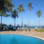 Sea view from Frangipani Resort pool area