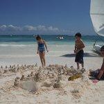 perfect white fine sand to build castles