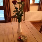 Complimentary roses and chocolates