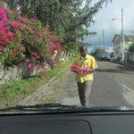 Merlyn picking us flowers. : )