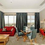 Shiny curtains / shiny sofa