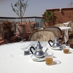 Tea on the roof terrace
