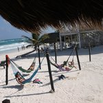 Spectacular view from the dining room.  We took a nice nap in these hammocks after lunch.