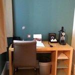 Desk with Nespresso machine