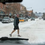 downtown Bozman: why shorts at 20 degree F?