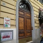The entrance doors