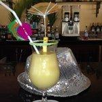 My pina colada at the Punta Cana pool bar.