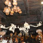 Skeletons over the bar.