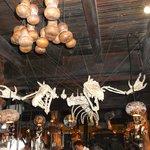 Skeletons over the bar.