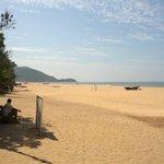 Beach in front of Sonho do Mar