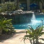 pool waterfall, adult pool