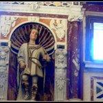 Capela de São Saturnino.Estátua de mármore de São Saturnino.Padroeiro de Cagliari.