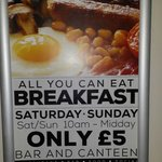 Added bonus or what??  All you can eat breaky for a fiver!!