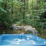 All cabins have nice outdoor hot tubs