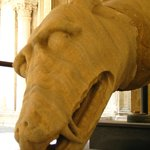 The head of a dragon at the doge's palace.
