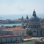 The view from the top of the san marco bell tower