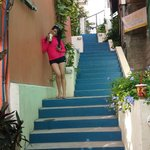 Stairways up to the hotel