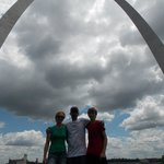 Us at the arch.