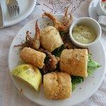 Жареные кальмары на ужин
