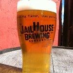 Tour glass full of Jailhouse Beer.