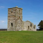 Knowlton Church and yew trees