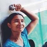 A local passenger on the Yangon circle train