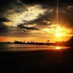 Sunset on beach at Los Suenos