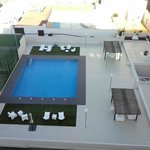 View of swimming pool from room
