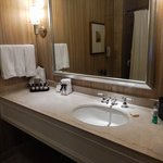 Large, super clean bathroom with nice amenities