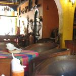 Fuzzy photo of lobby common area. Good place to do your Spanish homework! View = towards street.