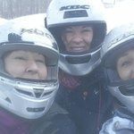 March 16 2014 waiting in 4 degrees but having a blast