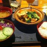 Teriyaki veges and tofu set menu