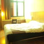 Habitación con cama grande y cómoda.