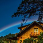 Rainbow over the main lodge