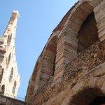 La arena de Verona desde un ángulo diferente