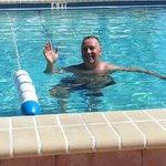 Pool was nice and warm