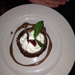 Amazing chocolate desert that had the texture and flavor of a soft milk chocolate fudge