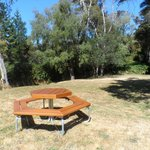 Sportsmans Lodge picnic table