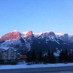 The Rockies, as we woke up.  Wow!