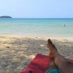 Descansando en la playa y sus vistas