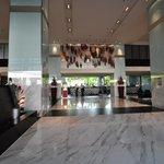 Hotel entrance & lobby very Malaysian ambience