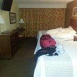 This what the room that I received.  NOT the booked premium room.