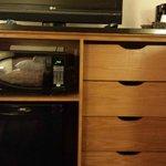 Dresser/mini fridge/Microwave