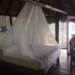 Great sice bed with mosquito net